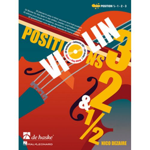 DEHASKE DEZAIRE N. - VIOLIN POSITIONS 3-2-1/2 + 2 CD