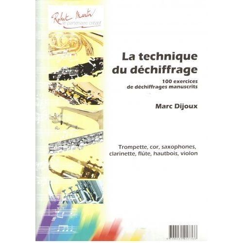 ROBERT MARTIN DIJOUX - TECHNIQUE DU DCHIFFRAGE (LA)