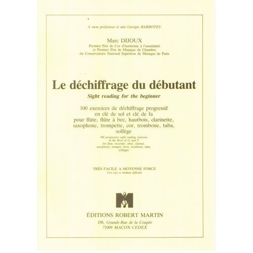 ROBERT MARTIN DIJOUX - DÉCHIFFRAGE DU DÉBUTANT