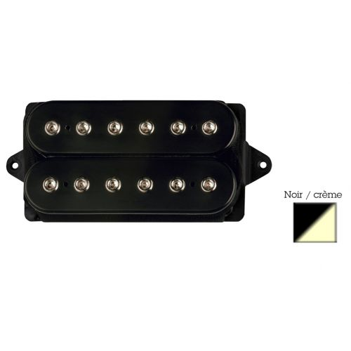 DIMARZIO DP104F-BC SUPER 2 - F-SPACED HUMBUCKER BLACK/CREAM