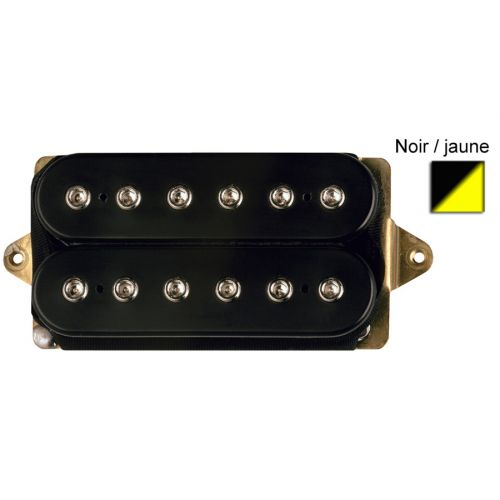DIMARZIO DP153F-BY FRED F-SPACED HUMBUCKER BLACK/YELLOW