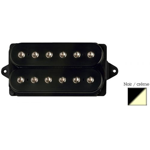 DIMARZIO DP156F-BC HUMBUCKER FROM HELL - F-SPACED BLACK/CREAM