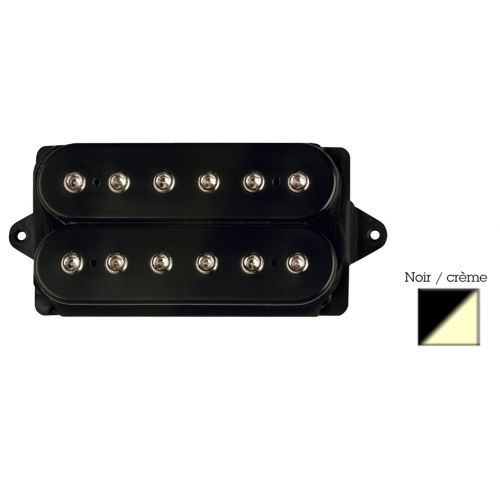 DIMARZIO DP220F-BC D ACTIVATOR BRIDGE - F-SPACED HUMBUCKER BLACK/CREAM