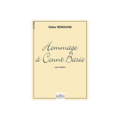 EDITIONS DELATOUR FRANCE RENOUVIN DIDIER - HOMMAGE A COUNT BASIE POUR GUITARE