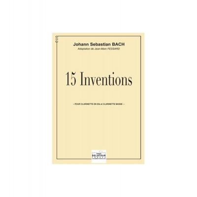 EDITIONS DELATOUR FRANCE BACH JOHANN-SEBASTIAN - 15 INVENTIONS POUR CLARINETTE ET CLARINETTE BASSE