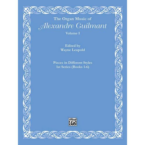 ALFRED PUBLISHING GUILMANT ALEXANDRE - ORGAN MUSIC VOL 1 - ORGAN