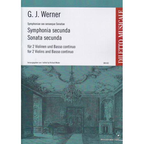 DOBLINGER WERNER G. J. - SYMPHONIA SECUNDA B-DUR - 2 VIOLONS ET BC