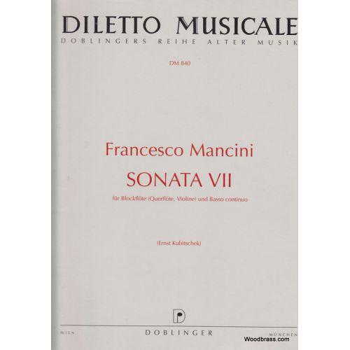 DOBLINGER MANCINI F. - SONATA VII C-DUR - FLUTE A BEC & BASSE CONTINUE