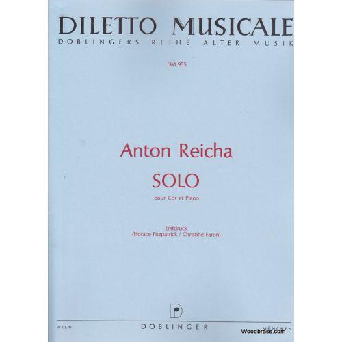 DOBLINGER REICHA A. - SOLO E-DUR - COR ET PIANO