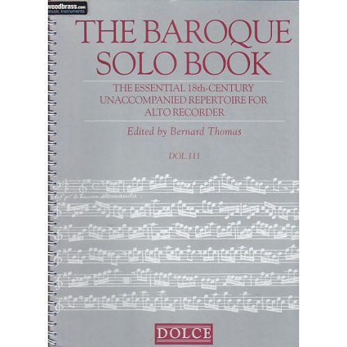 DOLCE THE BAROQUE SOLO BOOK - FLUTE A BEC ALTO SOLO