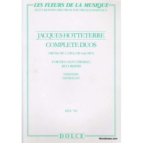 DOLCE HOTTETERRE J. - COMPLETE DUOS - FLUTES A BEC ALTO