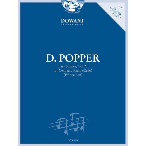 DOWANI POPPER D. - EASY STUDIES OP.73 - VIOLONCELLE, PIANO