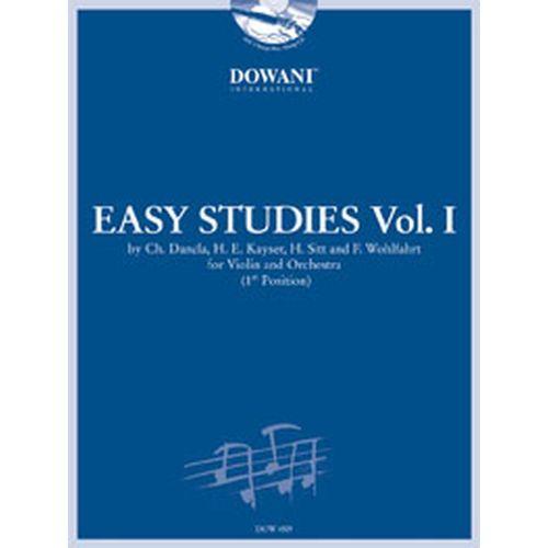 DOWANI EASY STUDIES VOL.1 + CD - DANCLA, KAYSER, SITT, WOHLFAHRT - VIOLON, ORCH