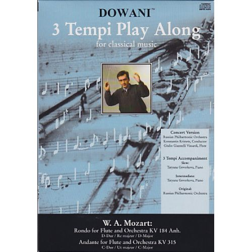 DOWANI MOZART W.A - RONDO FOR FLUTE AND ORCHESTRA KV 184 ANH. IN D-MAJOR