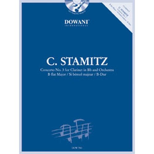 DOWANI STAMITZ C. - CONCERTO N°3 BB-MAJOR + CD - CLARINETTE, PIANO