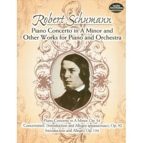DOVER SCHUMANN R. - GREAT WORKS FOR PIANO AND ORCHESTRA