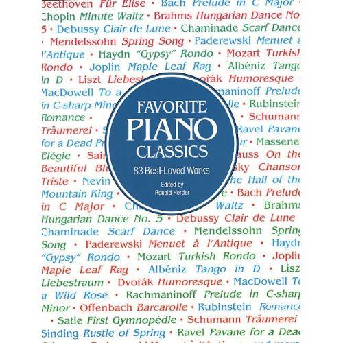 DOVER HERDER RONALD - FAVORITE PIANO CLASSICS - PIANO SOLO