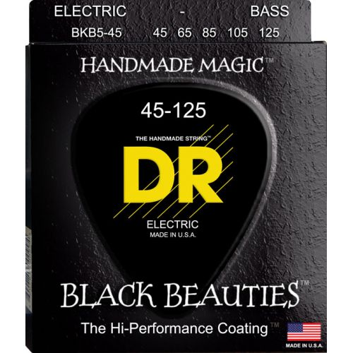 DR BKB5-45 BLACK BEAUTY BASS 45-125 MEDIUM 5 STRINGS