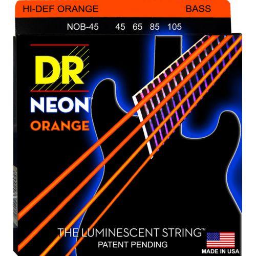 DR NOB-45 NEON ORANGE BASS 45-105 MEDIUM 4 STRINGS