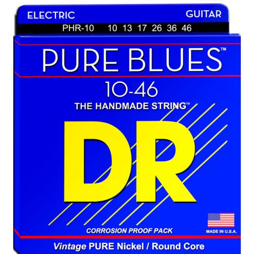 DR PHR-10 PURE BLUES ELECTRIC 10-46 MEDIUM