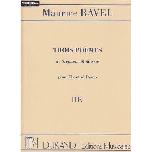 DURAND RAVEL M. - 3 POEMES DE MALLARME - CHANT ET PIANO