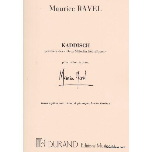 DURAND RAVEL M. - KADDISCH - VIOLON ET PIANO