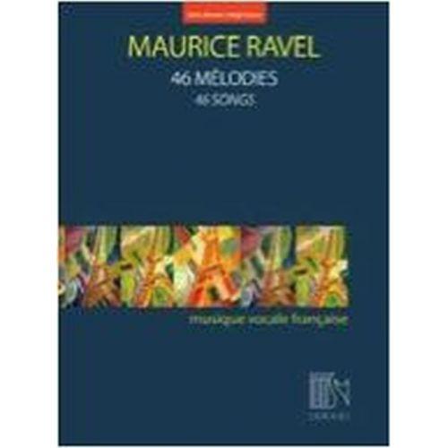 DURAND RAVEL MAURICE - 46 MELODIES - VOIX HAUTE & PIANO