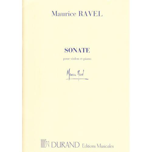 DURAND RAVEL MAURICE - SONATE - VIOLON, PIANO