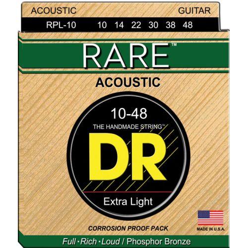 DR RPL-10 RARE PHOSPHORE BRONZE ACOUSTIC 10-48 LITE