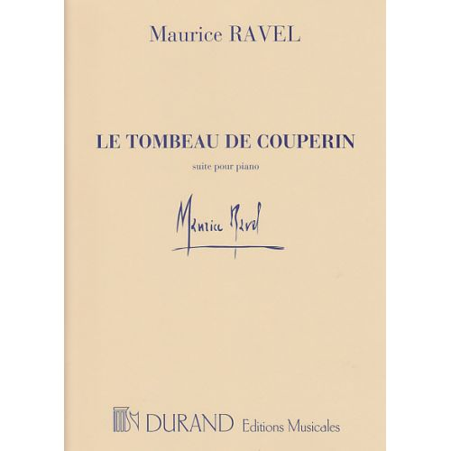 DURAND RAVEL TOMBEAU DE COUPERIN PIANO