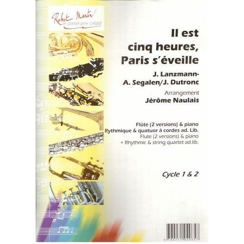 ROBERT MARTIN DUTRONC J. - NAULAIS J. - IL EST CINQ HEURES, PARIS S'VEILLE, FLTE SOLO
