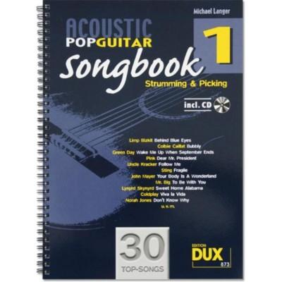 EDITION DUX LANGER M. - ACOUSTIC POP GUITAR SONGBOOK 1