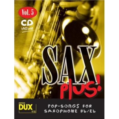EDITION DUX SAX PLUS! VOL.5 - POP SONGS FOR SAXOPHONE + CD