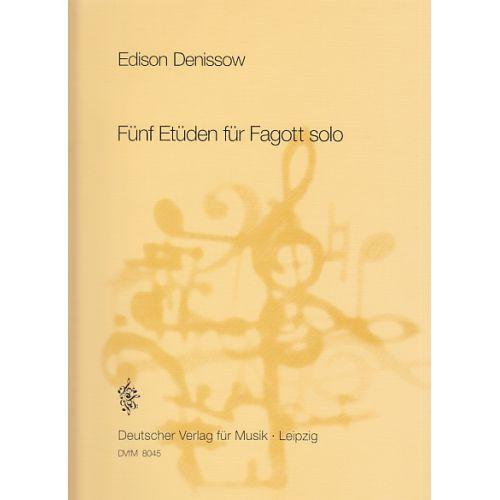 EDITION BREITKOPF DENISSOW E. - FUNF ETUDEN