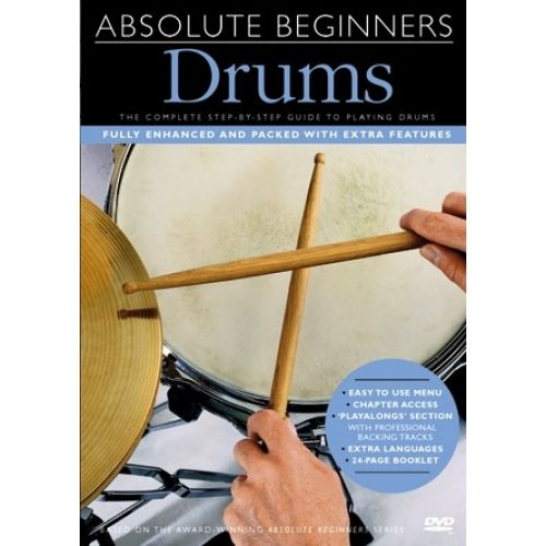 MUSIC SALES ABSOLUTE BEGINNERS - DRUMS [DVD] - DRUMS