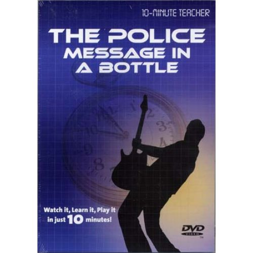 MUSIC SALES POLICE - MESSAGE IN A BOTTLE - DVD 10-MINUTE TEACHER - GUITAR