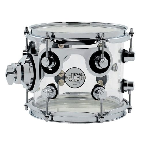 DW DRUM WORKSHOP TOM DESIGN ACRYLIQUE CLEAR