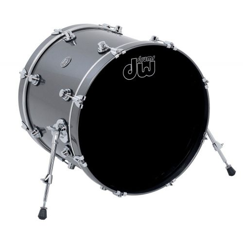 DW DRUM WORKSHOP BASS DRUM PERFORMANCE LACQUER GUN METAL METALLIC