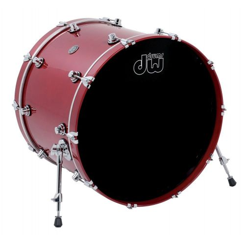 DW DRUM WORKSHOP BASS DRUM PERFORMANCE LACQUER CANDY APPLE RED