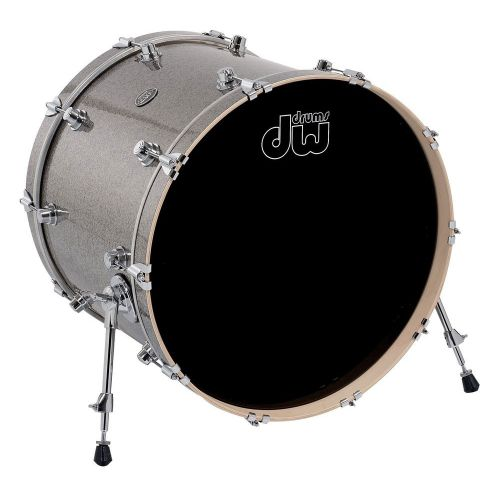 DW DRUM WORKSHOP BASS DRUM PERFORMANCE FINISH PLY / SATIN OIL TITANIUM SPARKLE