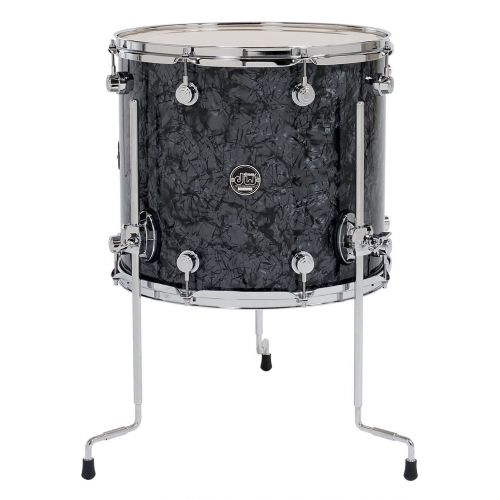 DW DRUM WORKSHOP TOM PERFORMANCE FINISH PLY / SATIN OIL PEWTER SPARKLE