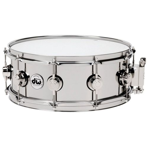 DW DRUM WORKSHOP SNARE DRUM STEEL STAINLESS 13X6,5