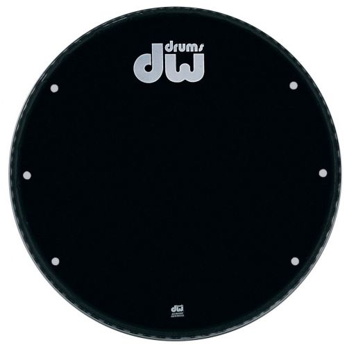 DW DRUM WORKSHOP BASS DRUM HEAD EBONY 24