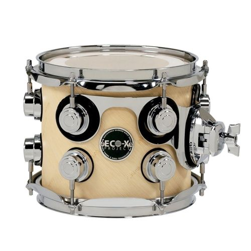 DW DRUM WORKSHOP TOM ECO-X EBONY STAIN 12 x 9