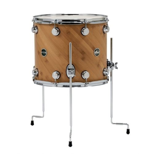 DW DRUM WORKSHOP TOM ECO-X EBONY STAIN 16 x 14