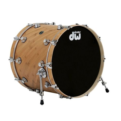 DW DRUM WORKSHOP BASS DRUM ECO-X EBONY STAIN 22 x 18