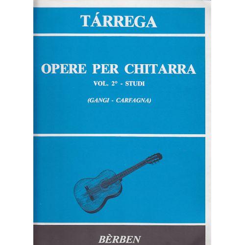 BERBEN TARREGA FRANCISCO - OPERE PER CHITARRA VOL.2 STUDI