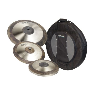 EAGLETONE PACK CYMBALE CRONOS 14/16/20 + HOUSSE