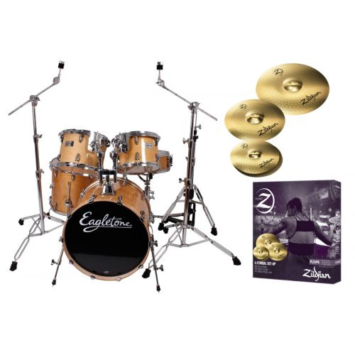 EAGLETONE QUEST - NATURAL + ZILDJIAN PLZ4PK CYMBALS PACK