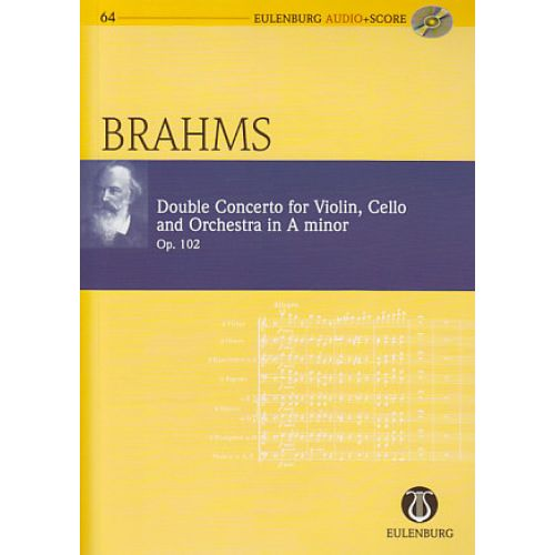 EULENBURG BRAHMS JOHANNES - DOUBLE CONCERTO IN A MINOR - CONDUCTEUR POCHE + CD